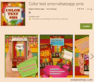 color text sms whatsapp sms app