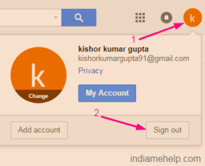 gmail sign out