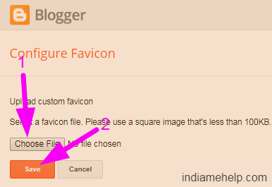 upload and save favicon icon on blogspot blog