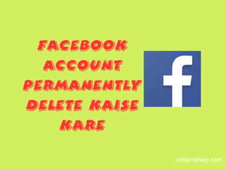 facebook account delete kaise kare ki hindi jankari