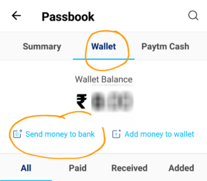 send money to bank