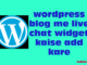 wordpress blog me live chat widget kaise add kare