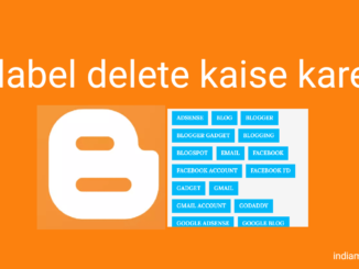 blogger blog me label delete kaise kare