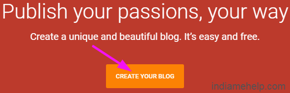 create your new blog