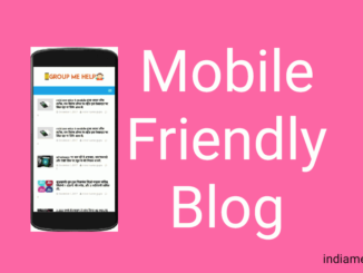 responsive mobile friendly blog