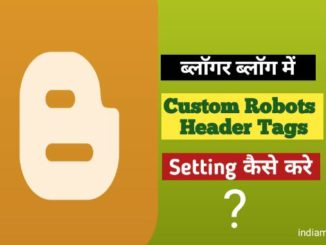 custom robots header tags setting kaise kare