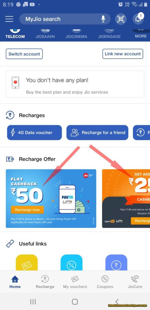 jio recharge offers