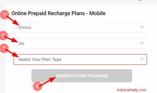 search recharge plans