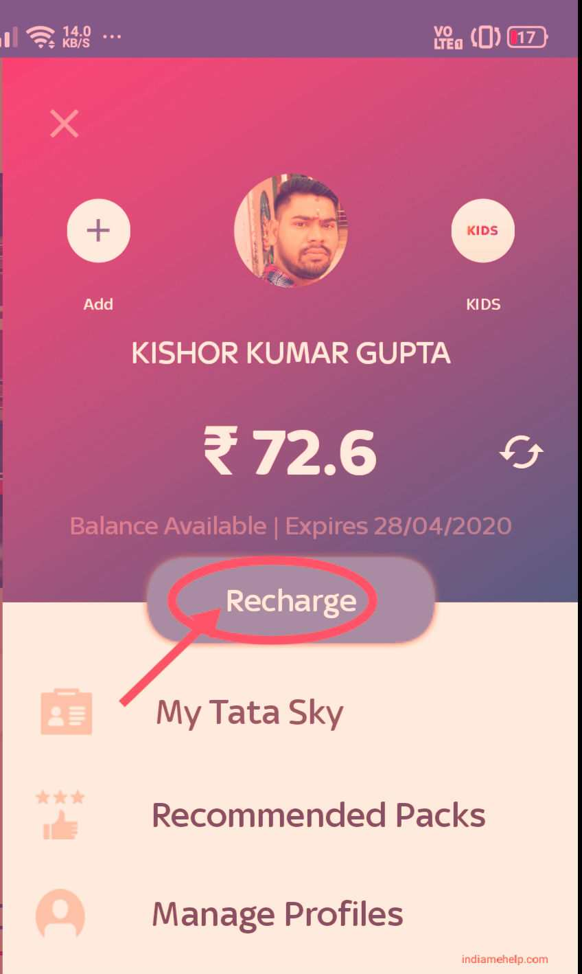select recharge