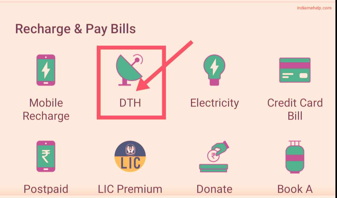 phone pay dth option