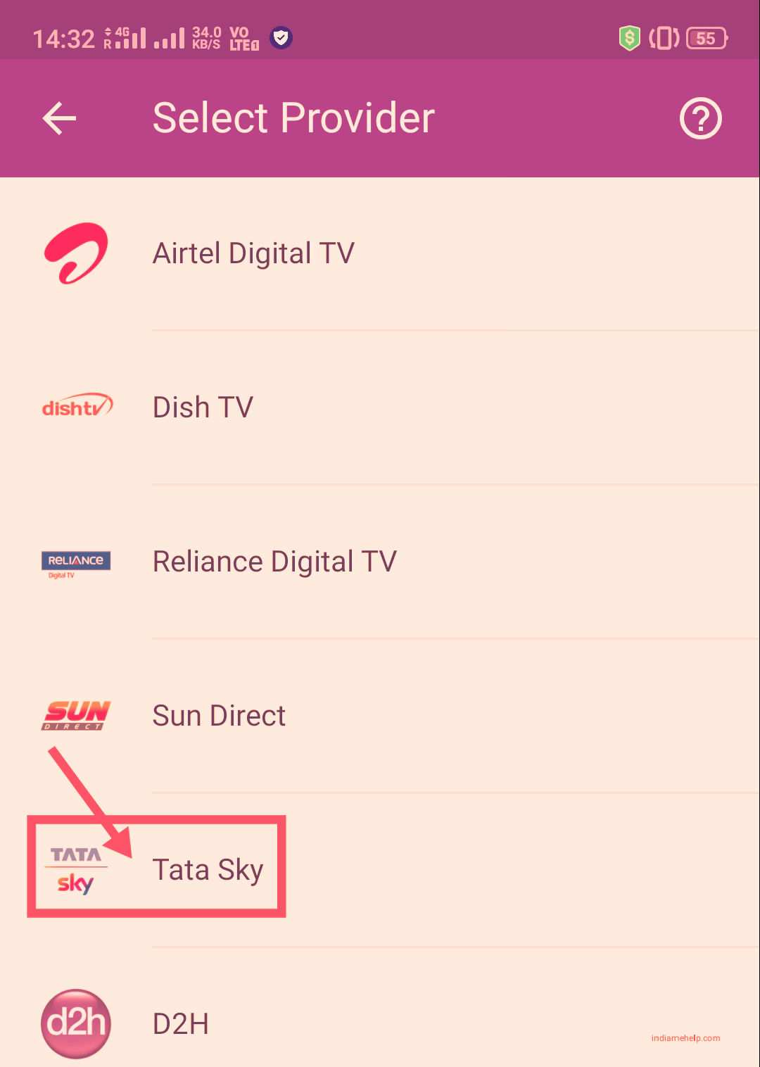 tata sky option