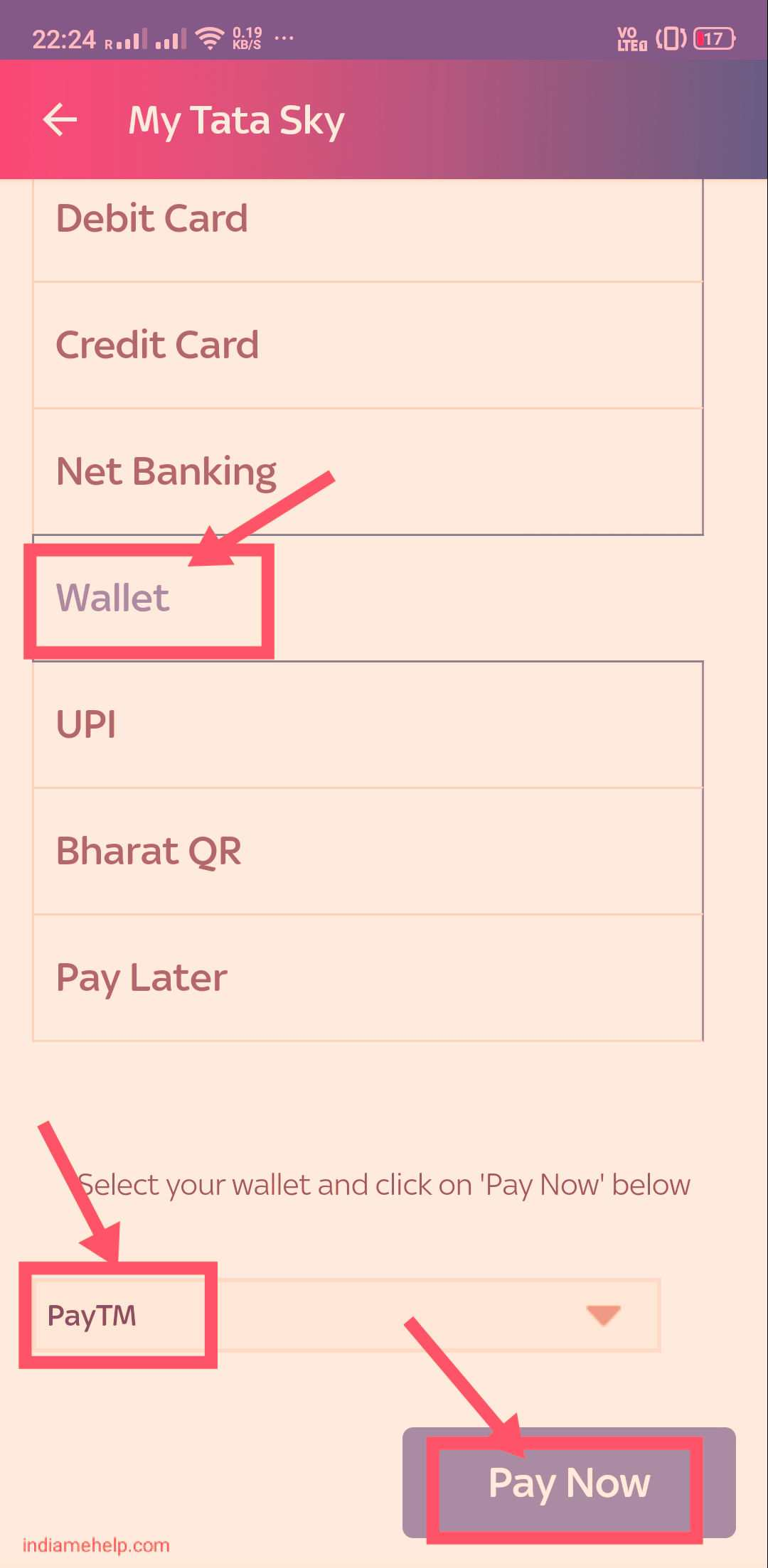 select wallet